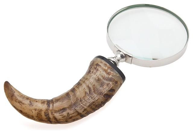 Godinger Natural Horn Magnifying Glass.