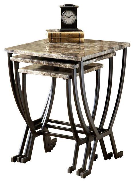 monaco nesting tables 3piece set