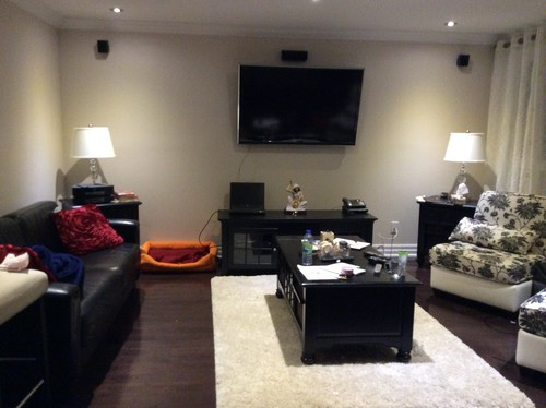 How Would You Decorate This Tv Wall It S An Open Concept Living And Kitchen Room