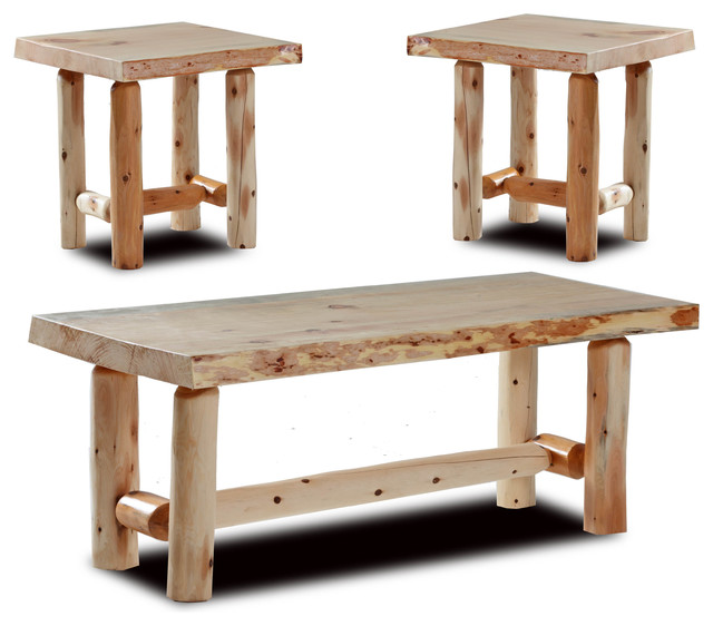 Easton Rustic Coffee And End Tables Set Of 3 Rustic
