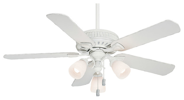 Ainsworth 3-Light Indoor Ceiling Fans, Cottage White.
