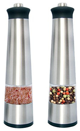 Homestart Electric Salt & Pepper Grinder With Led Light ( Set Of 2 )