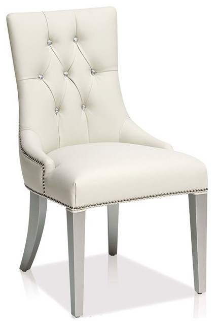 off white leather dining chairs winda 7 furniture