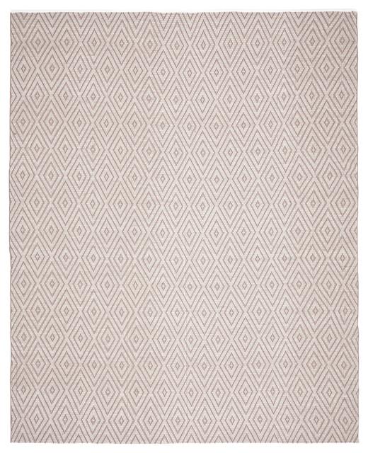 Safavieh Montauk Flatweave Rug, Gray/ivory, 8&x27;x10&x27;.