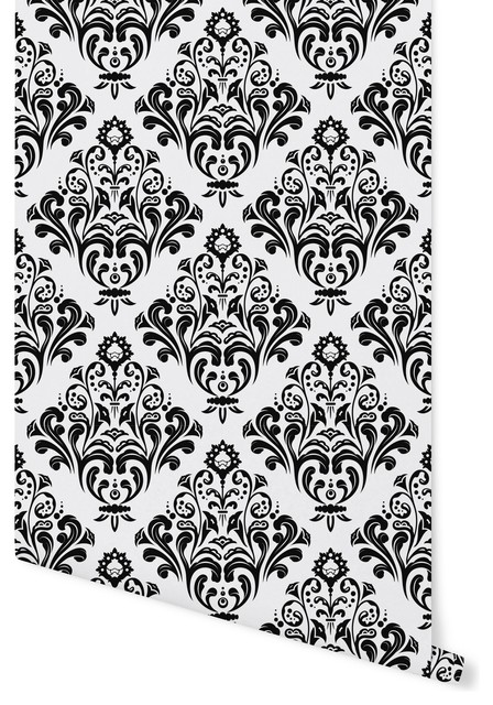 Removable Wallpaper Helen Damask Peel Stick Self Adhesive Traditional Wallpaper By Accent Wall Customs
