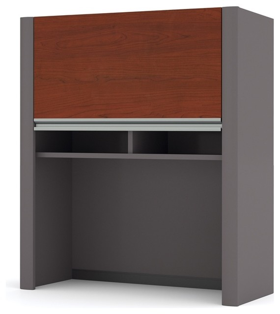 "Shop Houzz | Bestar Bestar Connexion Cabinet for 30"" Lateral File, Bordeaux and Slate - Filing ..."