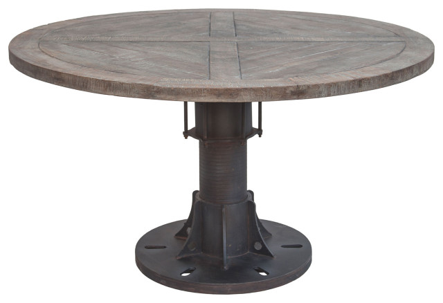 Sterling 54 Round Reclaimed Teak, Round Reclaimed Dining Table
