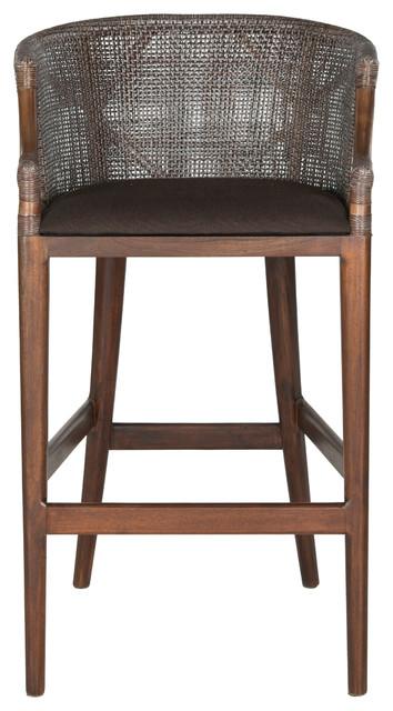 Awe Inspiring Safavieh Brando Barstool Brown Bralicious Painted Fabric Chair Ideas Braliciousco