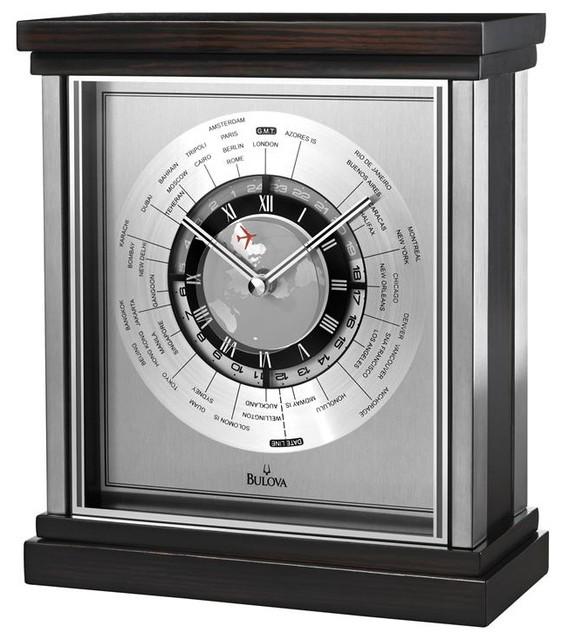 wyndmere executive desk clock modern desk and mantel clocks - Designer Desk Clock