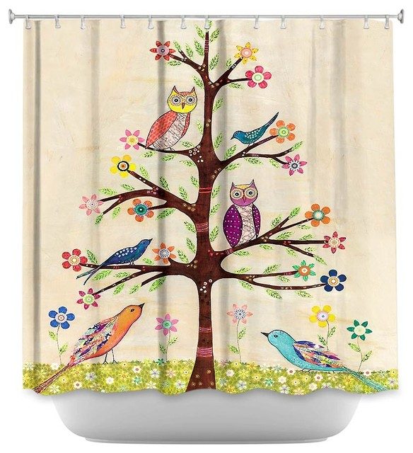 Shower Curtain Unique From Dianoche Designs Owl Bird Tree Ii