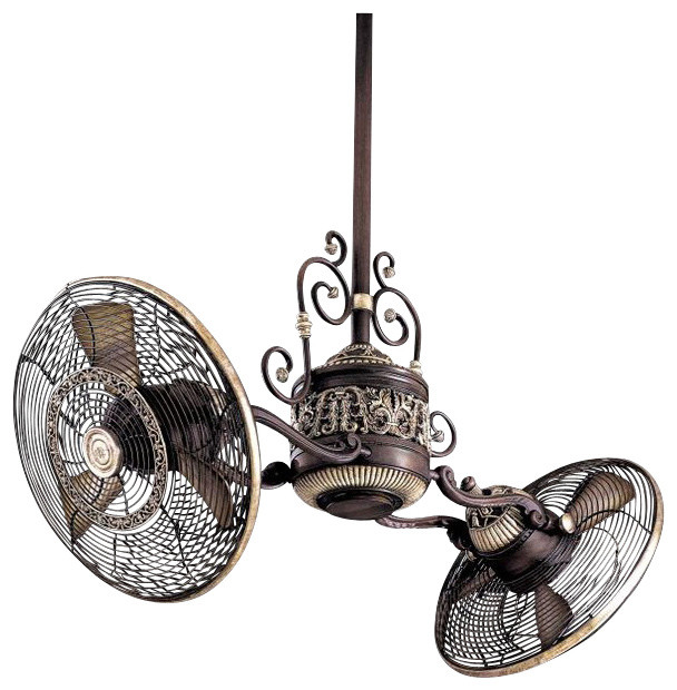 Minka-Aire Traditional Gyro 1-Light Dual Motor Ceiling Fan ...