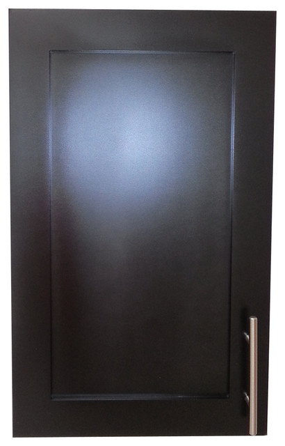 "24"" Wall Mounted Extra Depth Hampton Frameless Cabinet, 5.5"" Deep, Black."