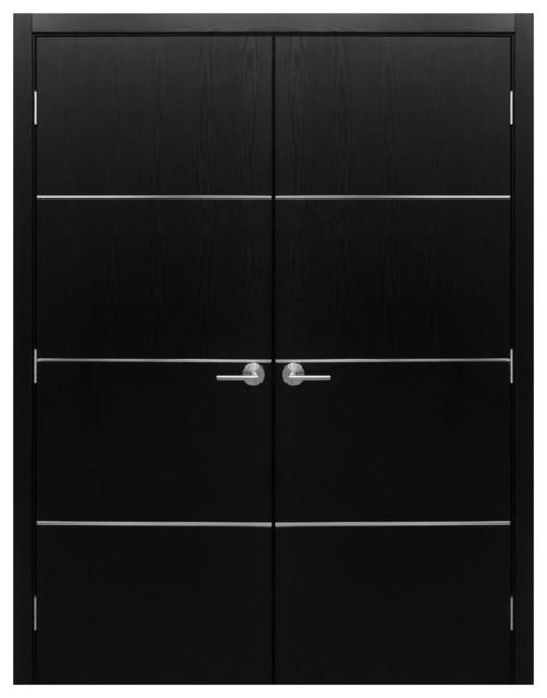 Nova Modern Interior Doors By Brooklyn Doors Inc Hg008 Black Ash