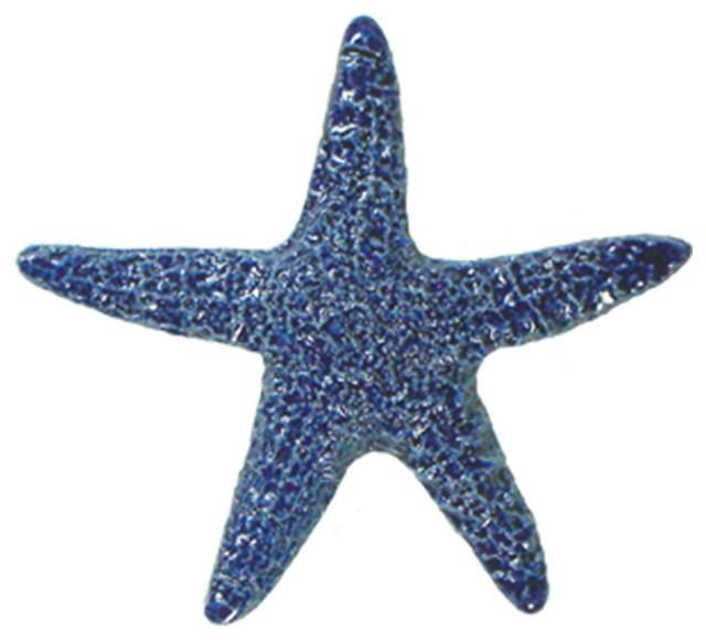 Starfish Blue Mosaic Beach Style Mosaic Tile By