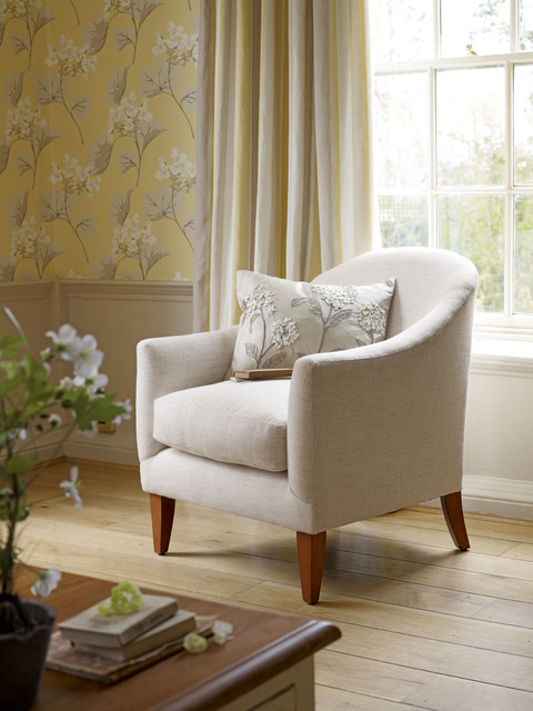 Laura Ashley Millwood Wallpaper Eclectic Family Room