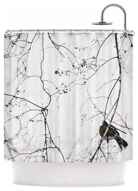 Curtains Ideas bird shower curtain : Kess InHouse Qing Ji