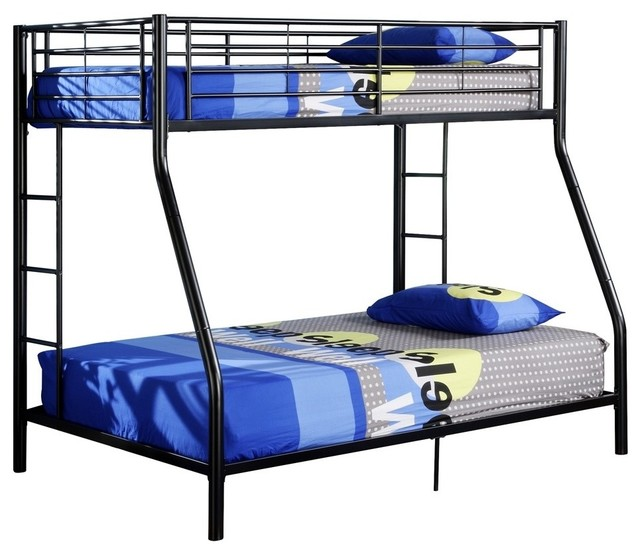 Walker Edison Twin Over Full Metal Bunk Bed White