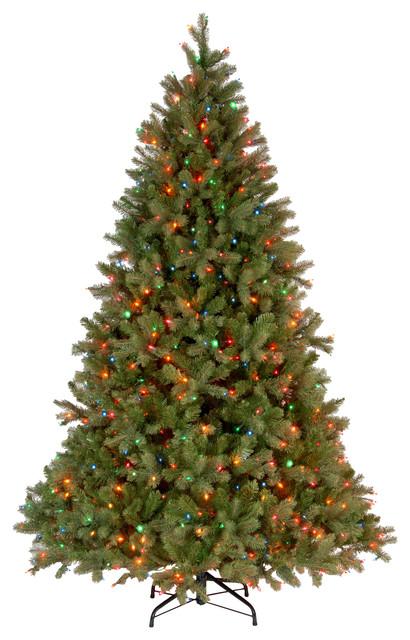 7.5' Downswept Douglas Fir Tree With Multicolor Lights