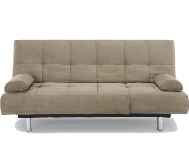 Modica Khaki Sofa Convertible Contemporary Sleeper