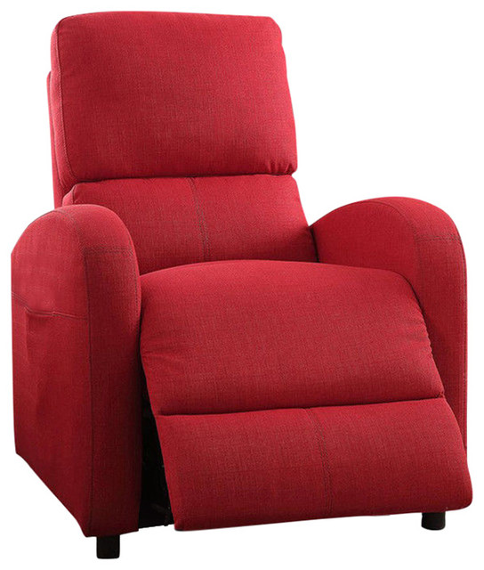 Acme Croria Recliner, Power Lift, Red by Acme Furniture