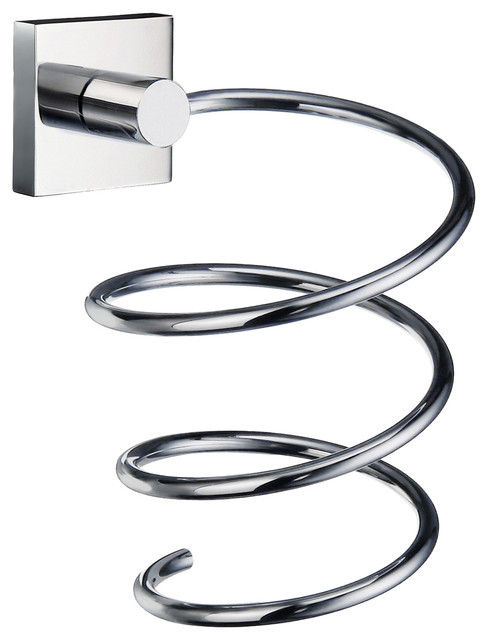 House Holder For Hairdryer Chrome - Contemporary - Bathroom Organizers - by Smedbo Inc