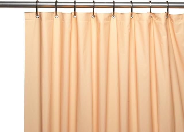 Carnation 3 Gauge Vinyl Shower Curtain Liner Weighted Grommets Bone 72 x 72