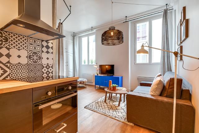 R novation d 39 un studio de 25m2 dans le marais contemporain paris pa - Amenagement studio 25m2 ...