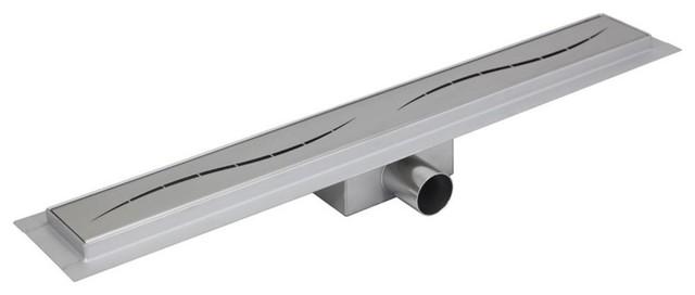 "Design 10 Stainless Steel ""Rectangular"" Wetroom Shower Drainage System, 1000 mm"