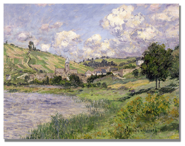 U0027Landscape Vetheuil, 1879u0027 Canvas Art By Claude Monet Traditional Prints And