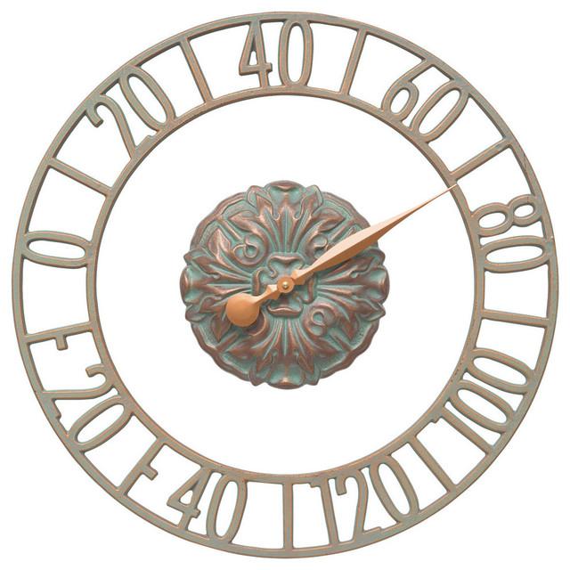 Patio Thermometer, Cambridge, Copper Verdi Contemporary Decorative  Thermometers
