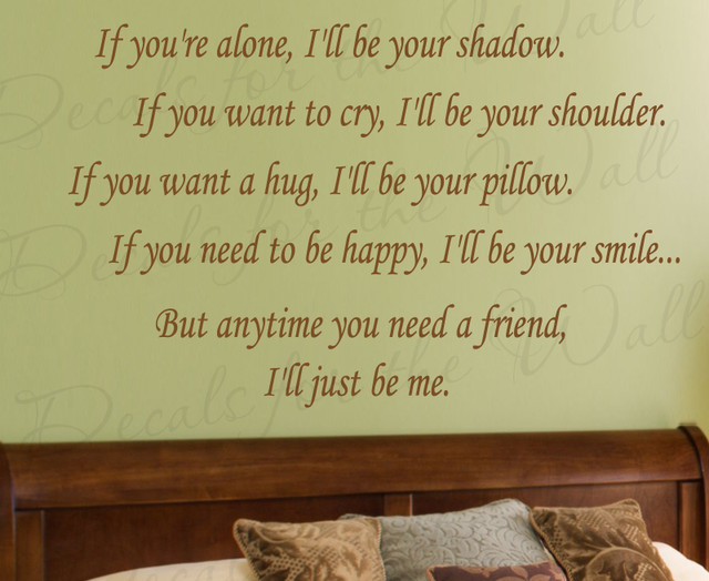 Wall Decal Quote Vinyl Sticker Art Mural Iu0027ll Be Your Shadow Friendship  Love L59 Part 68