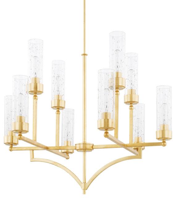 Capital Lighting Regan Gold 10 Light Chandelier
