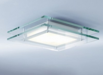 Contemporary Square Ceiling Light Fixture For Remodeled Bathroom
