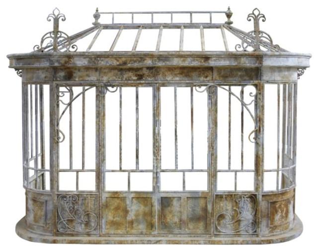Aged Metal Conservatory Facade Framework.