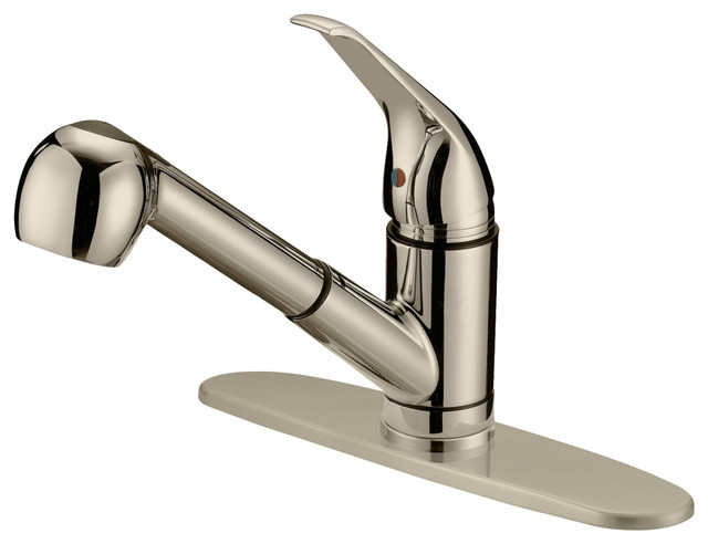 Brushed Nickel Finish Pull-Out Kitchen Faucet Lk3b, 1 Hole, 3 Holes