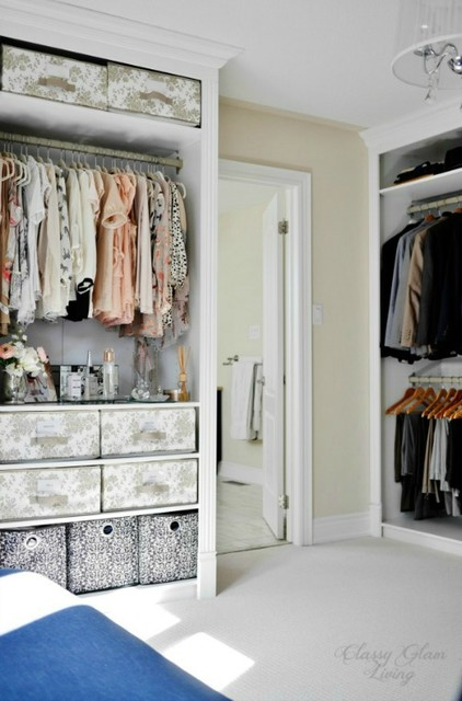 DIY IKEA Hack PAX Wardrobe Dressing Room - Klassisk - Förvaring ...