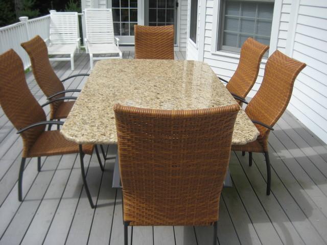 GRANITE PATIO TABLE - GRANITE PATIO TABLE - Miami - By Marble Doctors LLC -  Granite - Granite Patio Table Our Designs