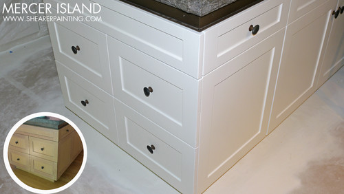 Interior Enamel Kitchen Cabinets painted kitchen cabinets wood to off white enamel