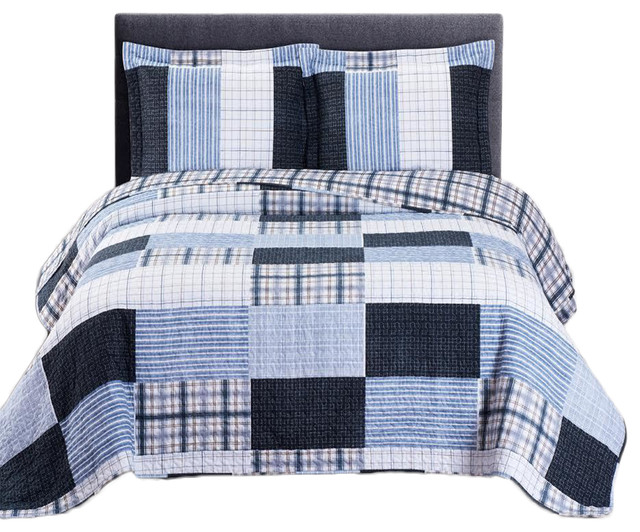Zoe Oversize Reversible 100% Microfiber Quilted Coverlet