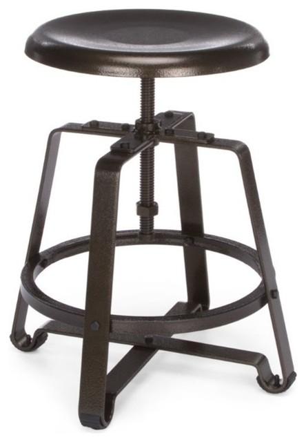 Ofm Endure Series Small Metal Drafting Chair, Dark Vein.
