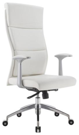 Modrest Ellison Modern White High Back Office Chair
