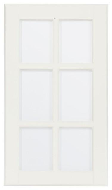 LIDINGÖ Glass door, white