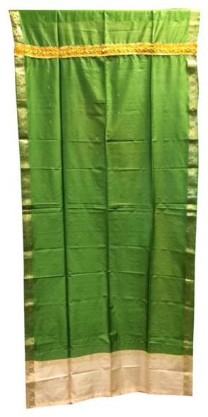 Saree Drapes Panels, Green.