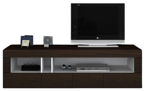 Aura Dark Brown TV Etnertainment Unit - Modern - Entertainment Centers And Tv Stands - by New ...