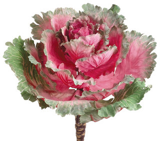Silk Plants Direct Ornamental Cabbage Pack Of 12