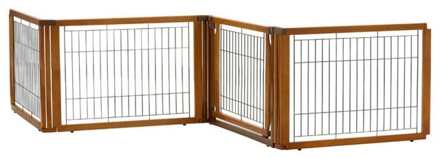 Convertible Elite 4-Panel Pet Gate L4