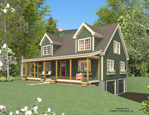 Ref project 3725 based on our deerfield series http for Garage under house plans