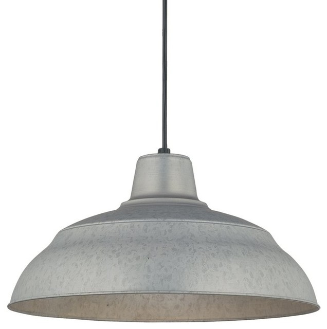 "Millennium Lighting RWHC17 R Series 1 Light 17"" Wide Warehouse Pendant"