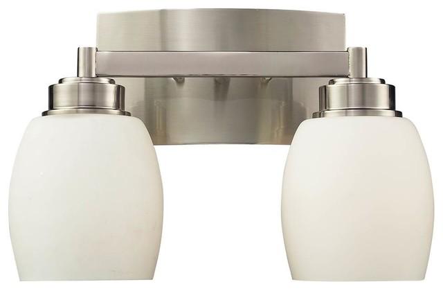 Satin Nickel Ceiling Lights Bathroom Vanity Chandelier: 2-Light Vanity In Satin Nickel Finish