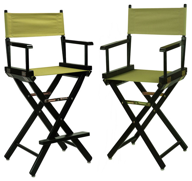 Awesome 18 Directors Chair With 24 Directors Chair Black Frame With Olive Canvas Squirreltailoven Fun Painted Chair Ideas Images Squirreltailovenorg